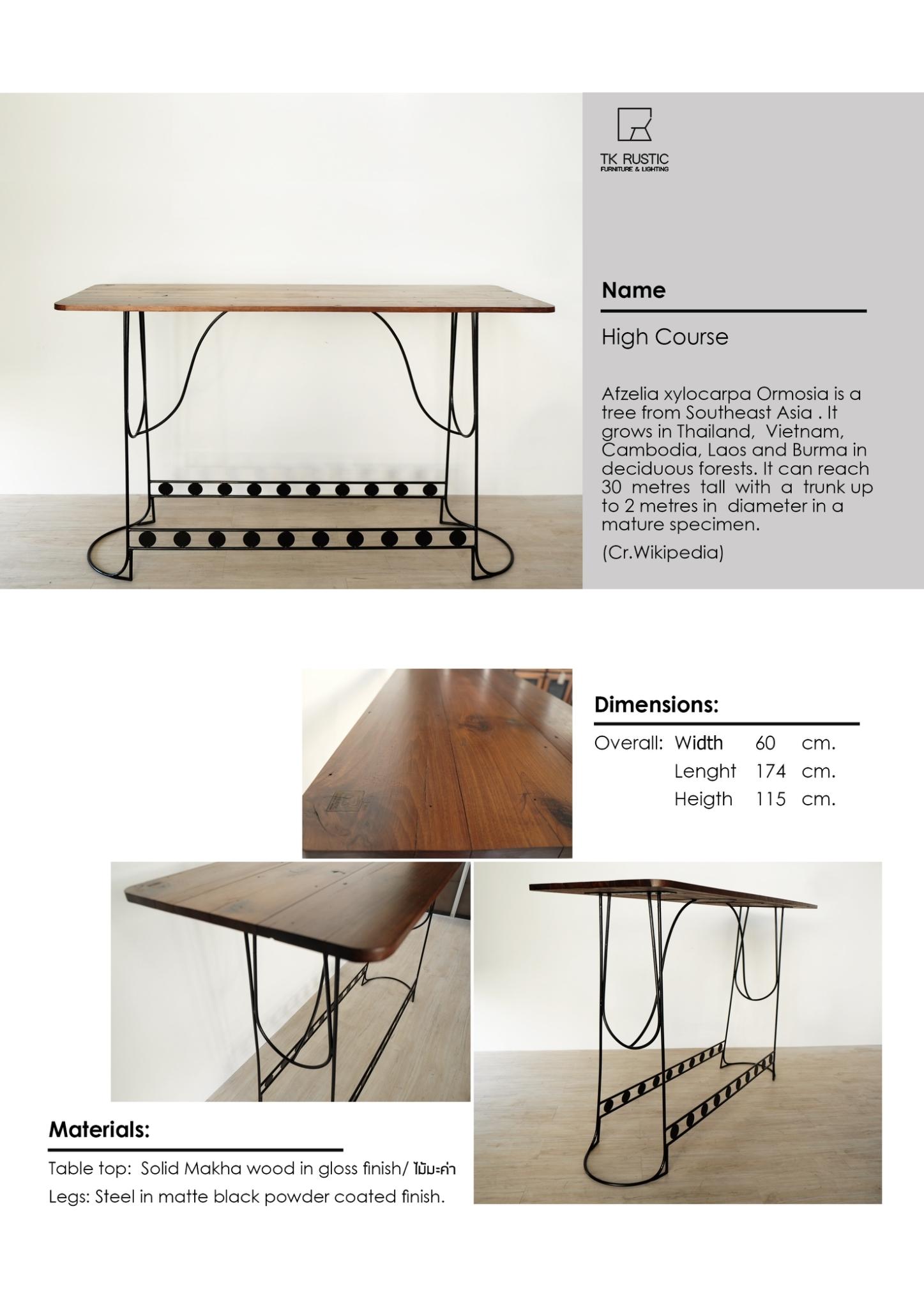 โต๊ะบาร์ไม้ขาเหล็ก เฟอร์นิเจอร์ลอฟท์ เฟอร์นิเจอร์ร้านกาแฟ เฟอร์นิเจอร์หัวหิน